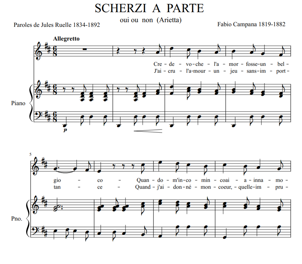 SCHERZI A PARTE SHEET PIANO VOICE