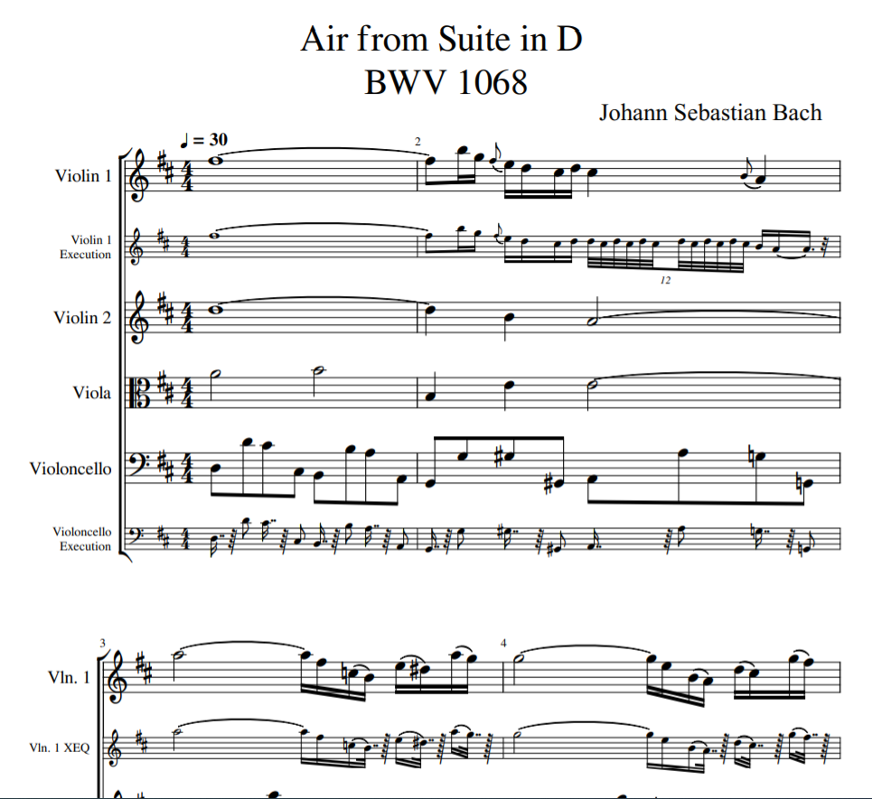 Johann Sebastian Bach - Air from Suite in D BWV 1068 for violin sheet